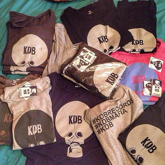 tshirts with kdb logo